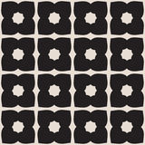 Universal vector black and white seamless pattern (tiling). Stock Photos
