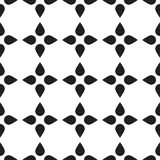 Universal vector black and white seamless pattern (tiling). Stock Photography