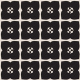 Universal vector black and white seamless pattern (tiling). Royalty Free Stock Photography