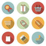 Universal Vector Color Flat Icons Stock Images