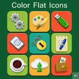 Universal Vector Color Flat Icons Royalty Free Stock Photo