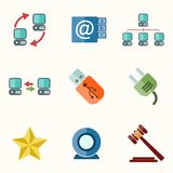 Universal Vector Flat Icons Royalty Free Stock Photo
