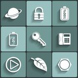 Universal Vector Flat Icons Stock Images