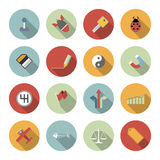 Universal Vector Flat Icons Royalty Free Stock Image