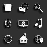Universal Vector Flat Icons Stock Photography