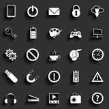 Universal Vector Flat Icons Royalty Free Stock Photography