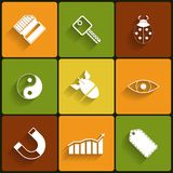Universal Vector Flat Icons. For Web and Mobile Applications stock illustration