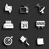Universal Vector Flat Icons Royalty Free Stock Images
