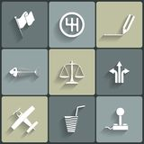 Universal Vector Flat Icons Stock Photo