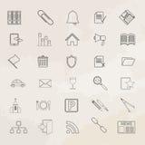 Universal vector icon set. Stock Image
