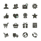 Universal vector icons set. Profile, Favorites, Shopping, Service. Universal icons set. Rounded corners Stock Photos