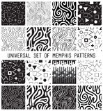 Universal vector lineal geometric seamless pattern Stock Photography