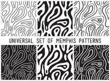Universal vector lineal geometric seamless pattern Stock Images