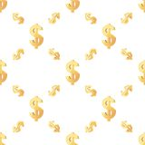 Universal vector seamless patterns tiling. Finance Stock Image