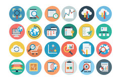 Universal Web Flat Colored Icons 2 Stock Photos