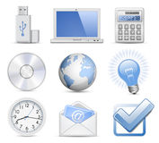 Universal Web Icon Set Stock Photography