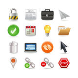 Universal web icons Stock Photos