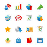 Universal Web icons 2. A set of color web icons with light shadow Stock Photography