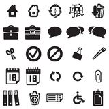 Universal web icons. Vector black universal web icons set on white Royalty Free Stock Photo