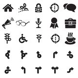 Universal web icons. Vector black universal web icons set on white Royalty Free Stock Photography