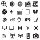 Universal web icons. Vector black universal web icons set on white Stock Photography