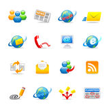 Universal Web icons 3. A set of color web icons with light shadow stock illustration