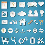 Universal Web Icons Set Royalty Free Stock Photography