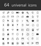 64 universal web-icons. 64 universal vector web icons Stock Photo