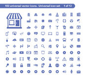 Universal web icons Royalty Free Stock Photos