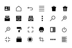 Universal Web and Mobile Vector Icons 6 Stock Photos
