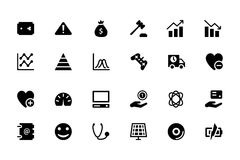 Universal Web and Mobile Vector Icons 11 Royalty Free Stock Images