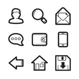 Universal web signs collection. Most requested icons - universal web signs collection Stock Photo