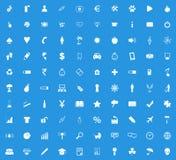 Universal white icon set Stock Photo