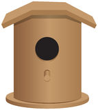 Universal wooden bird house Stock Photography