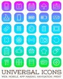 30 Universalikonen eingestellt für alles Zweck-Netz, Mobile, APP-Herstellung, Lizenzfreies Stockbild