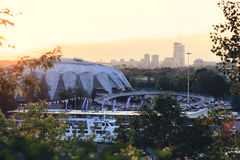 Universalsporthalle Stockbilder