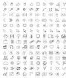 Universalsymboler för rengöringsduk och mobil Fotografering för Bildbyråer