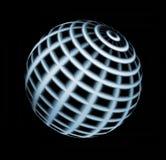 Universe. Blue sphere over black background. Object illustration Stock Photos