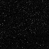 Universe abstract seamless pattern of dots. Stars in space, dark sky milky way. Galaxy black and white. Vector stock illustration