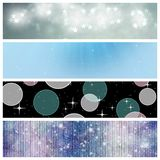 Universe banners. Set of three abstract space banners Stock Photos