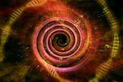 Universe Black Hole 3D Illustration Royalty Free Stock Photo