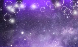 Universe bokeh background Stock Photography