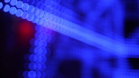 Universe colorful moving bokeh unfocused lights in club. Colorful moving bokeh unfocused lights in club stock footage