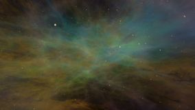 Universe, Colorful Space Nebula and Stars stock video footage