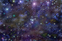 Universe deep space star nebula Stock Images