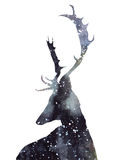Universe Deer royalty free illustration