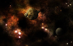 Universe dried out. A fictional universe with dried out planets royalty free illustration