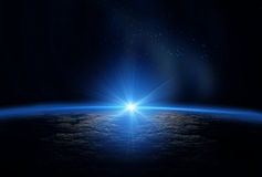 Universe: Earth and sun Stock Image
