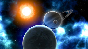 Universe eclipse Royalty Free Stock Image