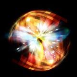 Universe eruption. Abstract universe eruption concept background vector illustration